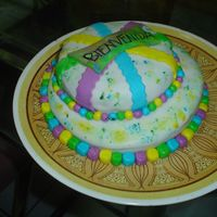 A Tea Party Cake (Colorful)   It's all made in MMF. French vanilla cake with dulce de leche (it's similar to caramel).