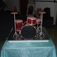 Drum Set Grooms Cake! This is completely edible! From scratch Funfetti cake, RKT, Gum paste and MMF! Measured 3x2ft. It was the hit of the reception. I am very...