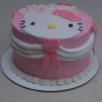 "Hello Kitty Little 6"" Hello Kitty cake for a girly girl."