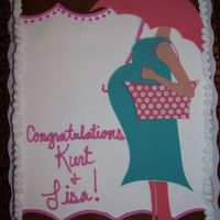 Kurt And Lisa Baby Shower btcrm with fondant accents, to match their invitation