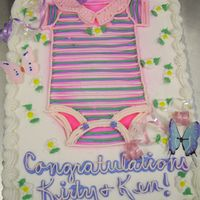 Onesy Cake A VERY last minute cake I did for a client