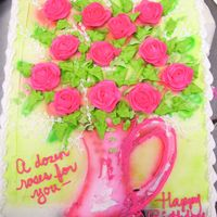 A Dozen Roses airbrush with btrcrm flowers