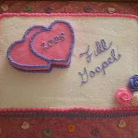 Pink/purple/ 3-D Heart I did this cake for my church Valentine Banquet. They wanted it simple. I couldn't think of what to do. The hearts are white cake with...