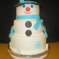 Snowman In Blue This was inspirered by CCer freubelmuisje. A friend of mine wanted a Birthday cake for her granddaughter. They were having a winter theme...