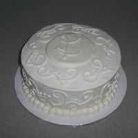 White On White White cake with vanilla BC.