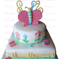 Dijana Vanilla cake with white chocolate filling covered in fondant. The figures are made of modeling paste. TFL.