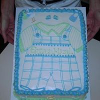 Baby_Gaven_011.jpg Blue and green baby shower cake for a little boy