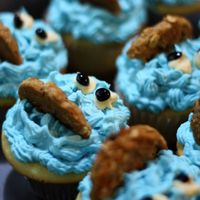 Cookie Monster Cupcakes made these ages ago...can't remember what flavor they were....