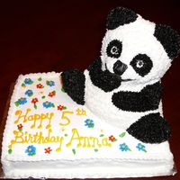 Panda   BC panda. I added a party hat the next day as one of the dowls poked out the top.