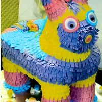 Pinata Cake Midnight chocolate cake with caramel mousse filling, covered in fondant. RKT for the head and legs. Deep thanks to twinsline7 and dbax for...