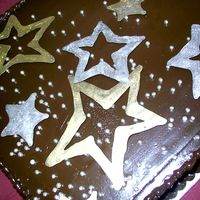 Chocolate_Sheetcake_With_Stars.jpg Whimsical Bakehouse design. Chocolate sheet cake with caramel buttercream filling and chocolate ganache frosted on the hottest day of the...