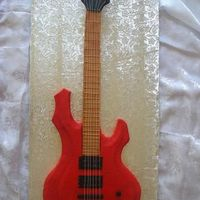Nathalia's Electric Guitar   3d sculpted cake