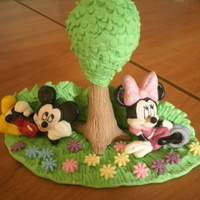 Mickey And Minnie Mickey and Minnie cake topper