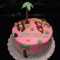 Monkey Birthday MMF monkeys, trees, bananas, etc (my 1st time to make MMF)