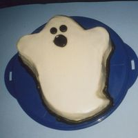 Boo Ghost pan (not Wilton) poured fondant!!Tip 12 border