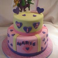 Barney A simple cake for a baby's first birthday who adores Barney