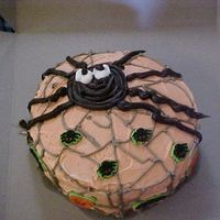 Sprider In Web I made this cake for the Bake Sale at Fall Fest for my daughter's school.
