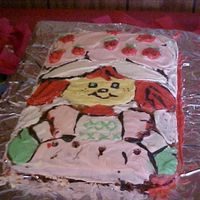 Classic Strawberry Shortcake I found a classic style picture of Strawberry Shortcake from a coloring book and free handed the outline on to the cake. Then I filled in...