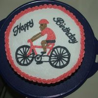 Birthday Bike Cake My husband wanted this for one of his friends at work. A very last minute cake! I did the drawing free hand.
