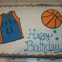 Basketball Birthday Cake I made this for my nephew's 11th birthday...tfl!
