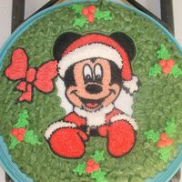 Mickey Mouse Christmas Cake! Chocolate cake I made for family Christmas party today...I'm so glad I tried this, I thought it was going to be difficult, but it...