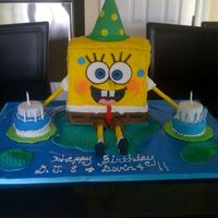 Spongebob Cake This is a spongebob cake that I made for my kids joint birthday party. Thanks Shelly 101 for her design and dukesbrees for your detailed...