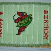 Football Mascot Birthday Cake For 8Year Old My coworker's 8 year old had a birthday and he drew me a football field cake he wanted. Our local college team's mascot is a...