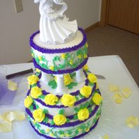 1St Wedding Cake my first wedding cake before taking any Wilton's classes. It was for my best friend's wedding.