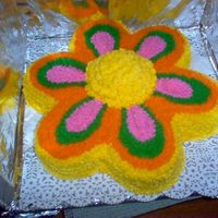 Flower Cake cake I made for our Jr. class bake sale. Good practice cake also.