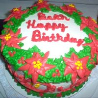 Holiday Birthday Cake all buttercream