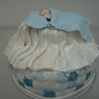 Boy Baby Shower All fondant. Hand painted with luster dust.