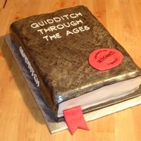 "Quidditch Through The Ages Book This was the base for my son's birthday cake. It was a Harry Potter party so I made a book of ""Quidditch through the ages""...."