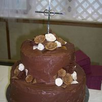 Chocolate Grooms Cake this was the grooms cake for my daughters wedding. It was the best tasting chocolate cake with very good ganache filling (used Callebut...