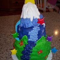 Dora's Star Mountain This was a white cake filled with strawberry filling. I made it for my grandaughters 3rd birthday.