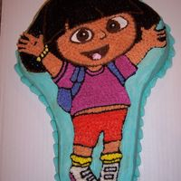 Dora Cake this was my first attempt at a character cake. I was so proud making it for my granddauthers 3rd b-day. When I finished I asked her how she...