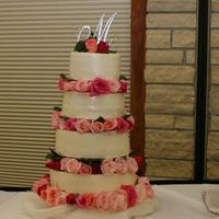 Simple Wasc Wedding Cake This was for my daughters wedding, I needed soemthing simple that would feed 300 guests and this fit perfectly. I used the Wilton tall teir...