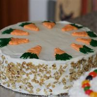 Carrot Cake I made this at Easter. It was a very good made from scartch carrot cake with creme cheese frosting