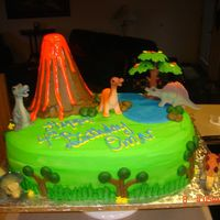 Volcano Cake Buttercream, royal icing, chocolate cake and chocolate ganche with toffee.TFL :)