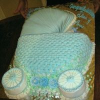 Baby Carriage Cake My sister in law wanted the cake to look like a baby carriage. Its BC, with fondant and basket weave. The baby bottle and the pears are...