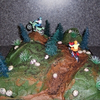 Dirtbike Racing Cake