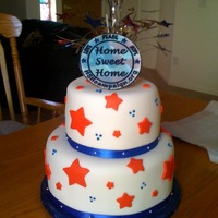 Display Cake For Us Charity For Soldiers This was a display cake for an auction. Styrofoam core - fondant external. Cake for serving was a sheet cake that served 150 pre-scored and...