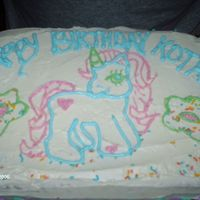 My Little Pony This was my first cake ever. Drew the pony by hand