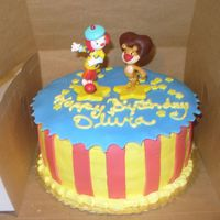 P1000084.jpg JoJo's circus birthday cake. Cake iced in buttercream, with fondant accents.