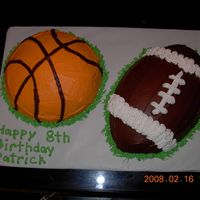 Sport Cake I used the football and soccar ball pan to make this cake.