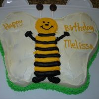 Bumble Bee Birthday Cake I made this for my sister-in-law's birthday. She loves bees. I got the directions from Wilton using the butterfly pan. It did not come...