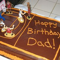 Basketball Cake Cake made for my father-in-law's birthday, he loves basketball