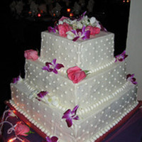 "Square Wedding Cake My first ""official"" wedding cake!"