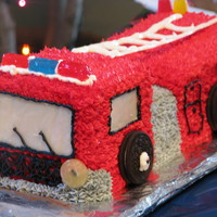 Firetruck Cake   This was my first attempt at a firetruck cake! Everyone LOVED it!