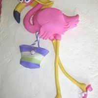 Fondant Flamingo   flamingo-everything made from fondantused gumpaste shoe article from cake central to make shoes