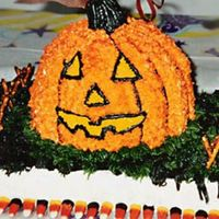 Pumpkin_Cake.jpg   pumpkin cake with grass, dirt & fence